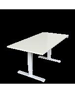 LeitnerDesk Classic- höhenverstellbarer Schreibtisch, Tischplatte  weiß, 160x80 cm
