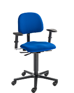 Bürodrehstuhl LeitnerVario 2 (Sitzhöhe 46 - 65 cm), Stoffgruppe 1 Kingflex