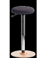Stehhilfe LeitnerWipp 3 mit runder Sitzfläche für höhenverstellbare Schreibtische