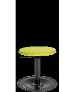 Kinder-Bewegungshocker LeitnerWipp 1 (Sitzhöhe 34-53 cm), Rundsitz PU mit Überzug, Metallsockel schwarz
