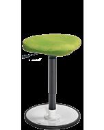 Bewegungshocker LeitnerWipp 2 (47 cm bis 65 cm), Sattelsitz, Metallsockel weiss